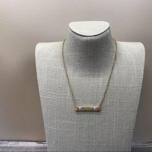 Handmade Gina's boutique bar necklace